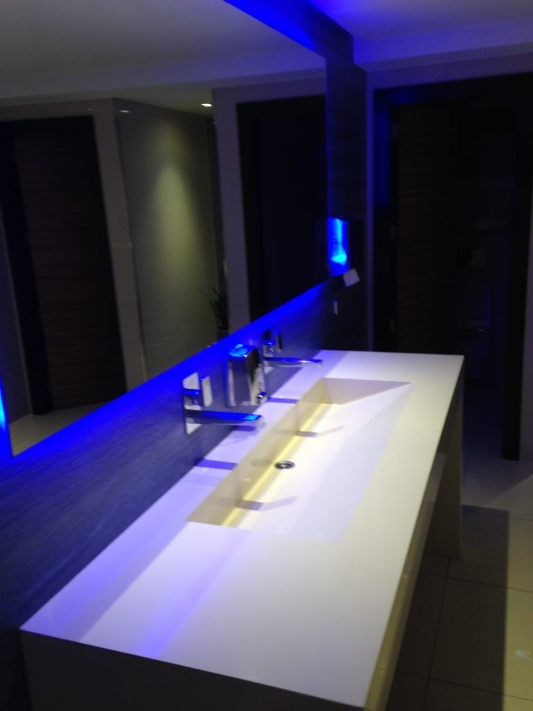 Toilette im Empfangsbereich des Vista Park Hotels