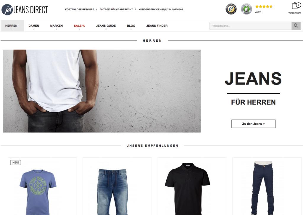 Jeans Direct Screenshot
