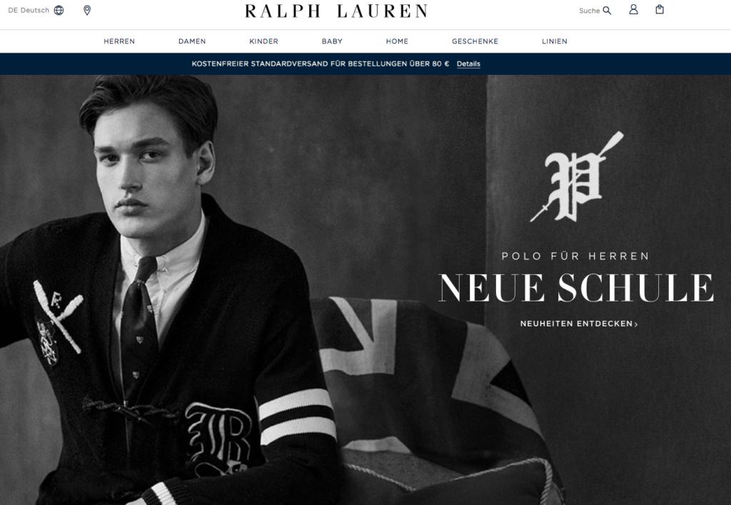 Ralph Lauren Screenshot