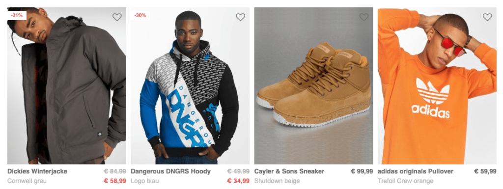 Kleidung bei Def Shop