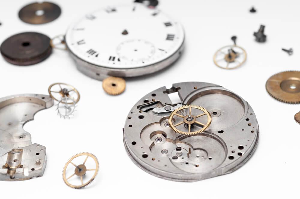 Bestandteile einer Armbanduhr